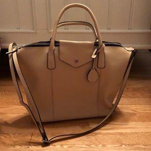 Emma & Sophia nude leather bag